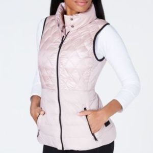 Calvin Klein Performance Quilted Down Vest Pink